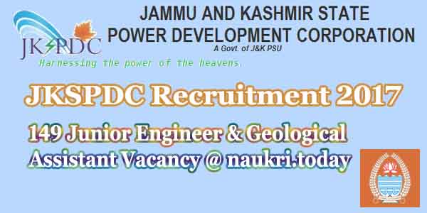 JKSPDC Recruitment 2017