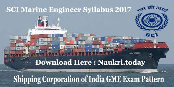 SCI Marine Engineer Syllabus 2017