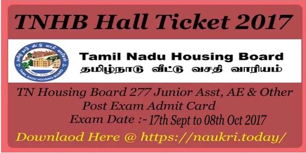TNHB Hall Ticket 2017