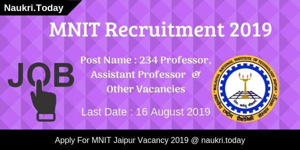MNIT Recruitment