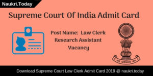 Supreme Court Admit Card