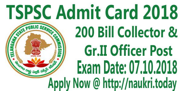 TSPSC Admit Card