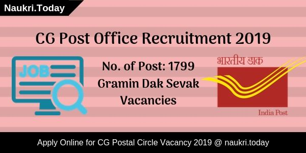 CG Post Office Recruitment