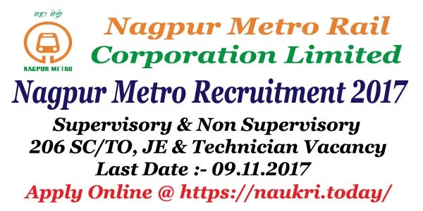 Nagpur Metro Recruitment 2017 – 18