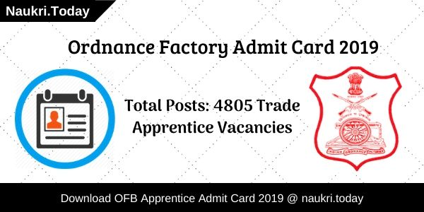 Ordnance Factor Admit Card