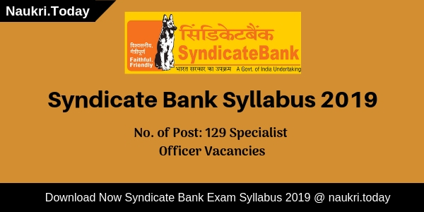 Syndicate Bank Syllabus