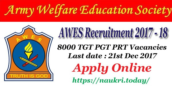 AWES Recruitment 2017 – 18