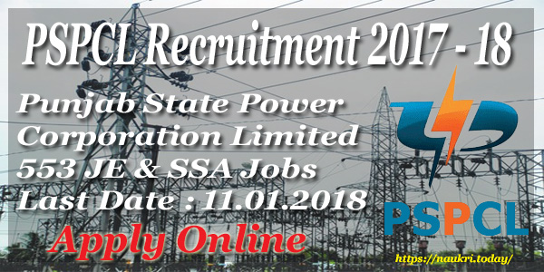 PSPCL Recruitment 2017 – 18