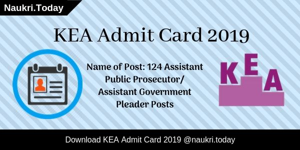 KEA Admit Card