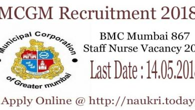MCGM Recruitment 2018