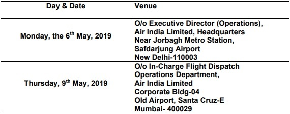 Interview Place of Air India
