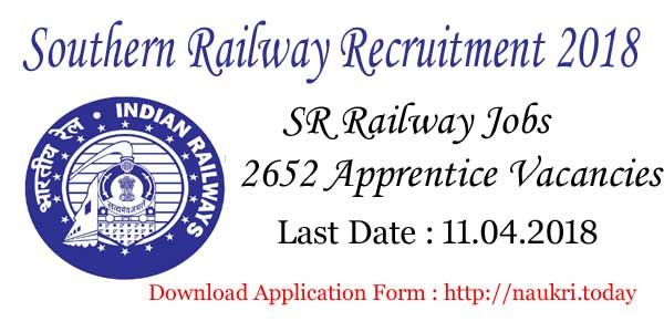 Southen Railway Recruitment