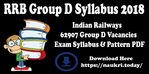 RRB Group D Syllabus 2018