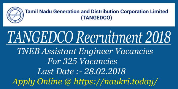 TANGEDCO Recruitment 2018