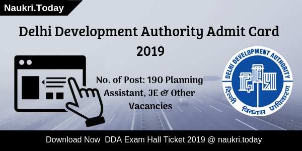 DDA Admit Card