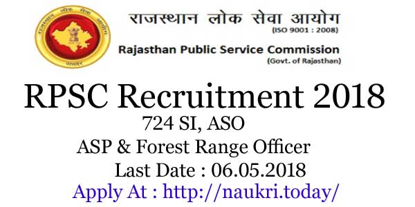 RPSC Recruitment 2018