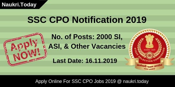 SSC CPO Notification