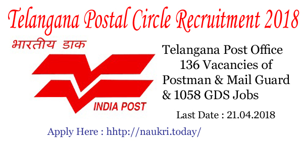 Telanagana Postal Circle Recruitment