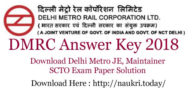 DMRC Answer key