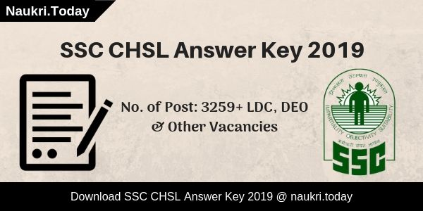 SSC CHSL Answer Key