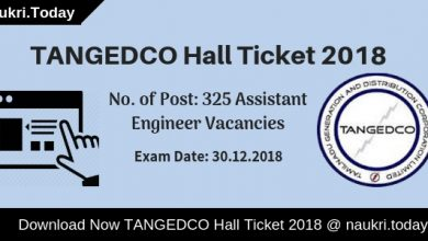 TANGEDCO Hall Ticket