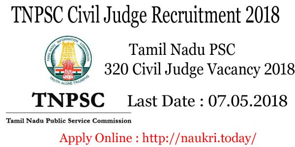 TNPSC Civil Judge Recruitment 2018
