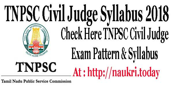 TNPSC Civil Judge Syllabus
