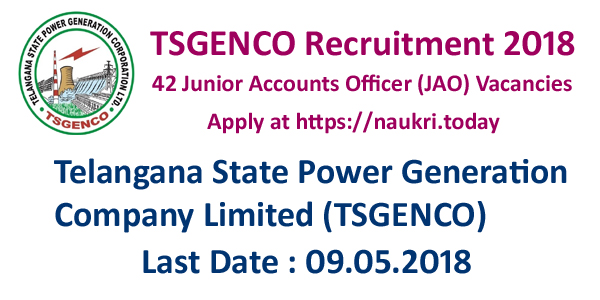 TSGENCO Recruitment 2018