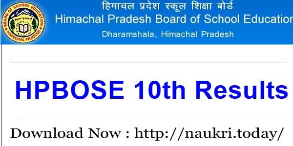 HPBOSE 10th Result-2018