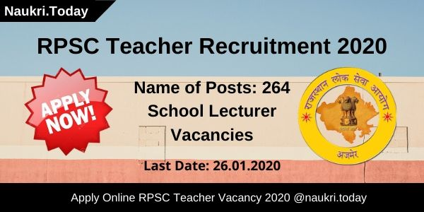 RPSC Teacher Recruitment