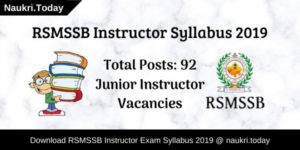 RSMSSB Instructor Syllabus
