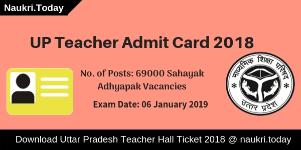 UP Teacher Admit Card
