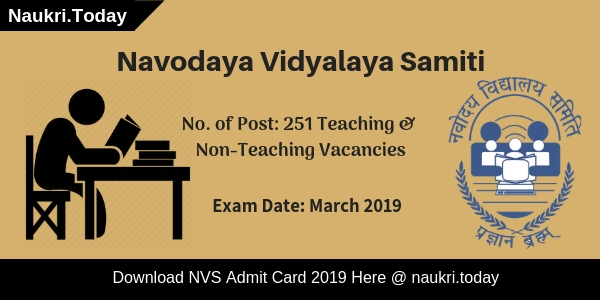 NVS Admit Card