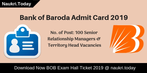 Bank of Baroda Admit Card