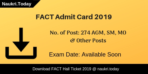 FACT Admit Card