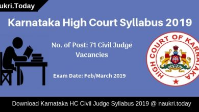 Karnataka High Court Syllabus