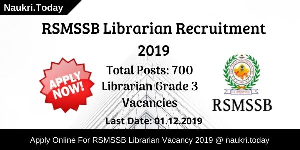 RSMSSB Librarian Recruitment