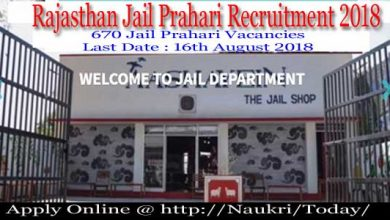 Rajasthan Jail Prahari Recruitment