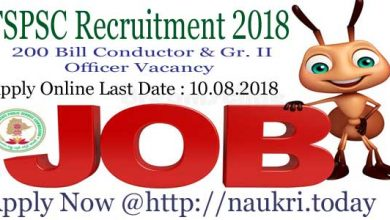 TSPSC Recruitment 2018