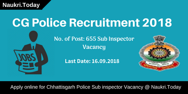 CG Police Recruitment 2018