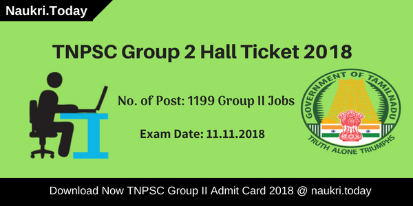 TNPSC Group 2 Hall Ticket