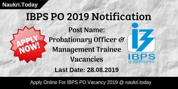 IBPS PO 2019 Notification