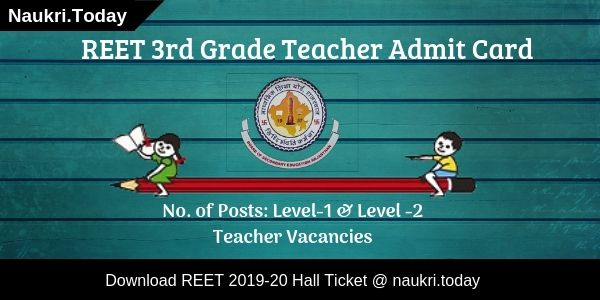 REET 3rd Grade Teacher Admit Card