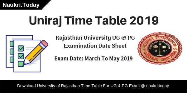Uniraj Time Table 2019