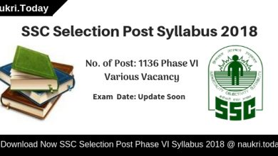 SSC Selection Post Syllabus