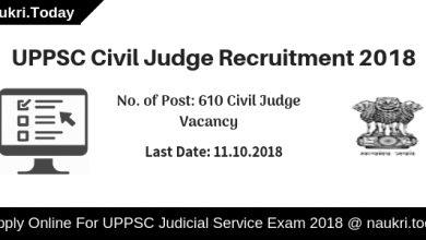 UPPSC Civil Judge Recruitment