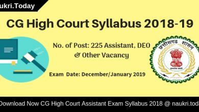 CG High Court Syllabus
