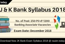 J & K Bank Syllabus