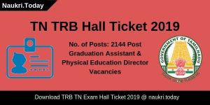 TRB TN Hall Ticket