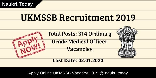 UKMSSB Recruitment